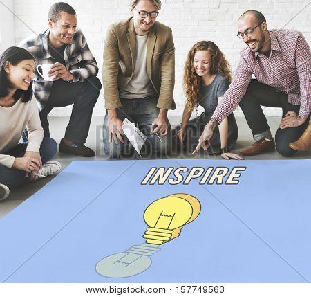 Inspire Fresh Ideas Creativity Concept