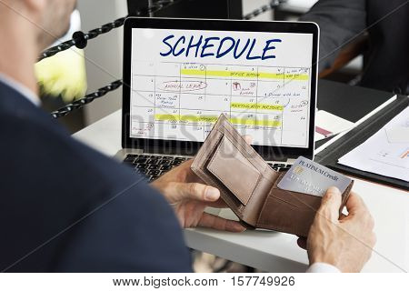 Schedule Agenda Calendar Appointment Graphic Concept