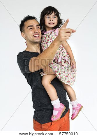 Childhood Kid Family Smiling Father Daughter Concept