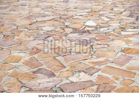 The Granite gray flagstone pavement wall background