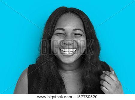 Woman Smiling Happiness Portrait Concept