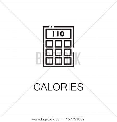 Calculator flat icon. Single high quality outline symbol of calculator for web design or mobile app. Thin line signs of calculator for design logo, visit card, etc. Outline pictogram of alculator