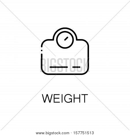 Libra flat icon. Single high quality outline symbol of fitness for web design or mobile app. Thin line signs of weight for design logo, visit card, etc. Outline pictogram of libra