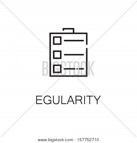 To do list flat icon. Single high quality outline symbol of fruit for web design or mobile app. Thin line signs of egularity for design logo, visit card, etc. Outline pictogram of to do list