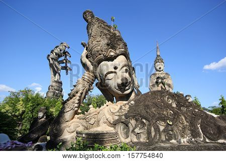 Huge Statues in the Sculpture Park - Nong Khai, Thailand