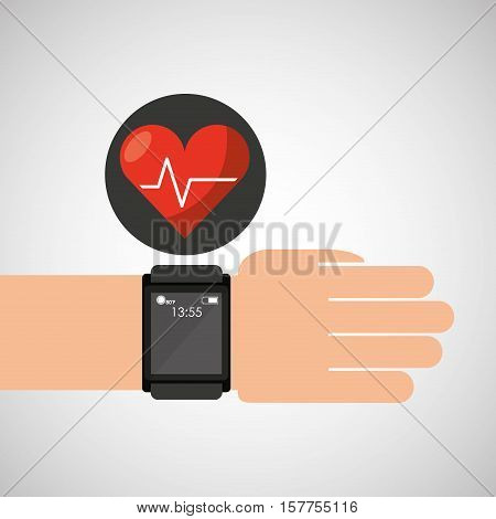 smart watch medical service heart rate vector illustration eps 10