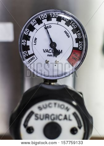 Surgical suction in ICU unit 100 mmHg.