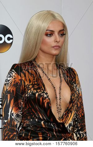 LOS ANGELES - NOV 20:  Bebe Rexha at the 2016 American Music Awards at Microsoft Theater on November 20, 2016 in Los Angeles, CA