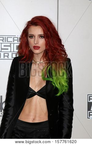 LOS ANGELES - NOV 20:  Bella Thorne at the 2016 American Music Awards at Microsoft Theater on November 20, 2016 in Los Angeles, CA