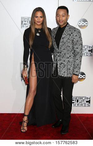 LOS ANGELES - NOV 20:  Chrissy Teigen, John Legend at the 2016 American Music Awards at Microsoft Theater on November 20, 2016 in Los Angeles, CA