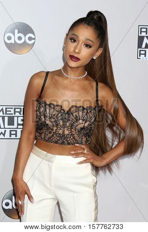 LOS ANGELES - NOV 20:  Ariana Grande at the 2016 American Music Awards at Microsoft Theater on November 20, 2016 in Los Angeles, CA
