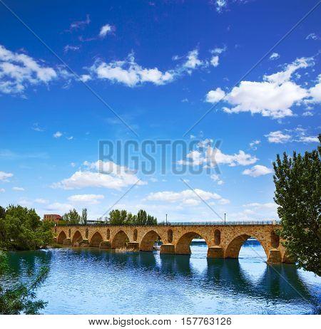Zamora Puente de Piedra stone bridge on Duero river of Spain by Via de la Plata