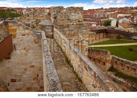 Zamora muralla fortress wall in Spain by Via de la Plata way to Santiago