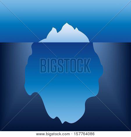 Iceberg in the ocean. Iceberg design element. Vector illustration.