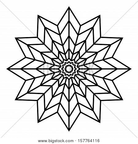 simple mandala flower design for coloring book pages doodle floral pattern in bold print - Simple Mandala Coloring Pages