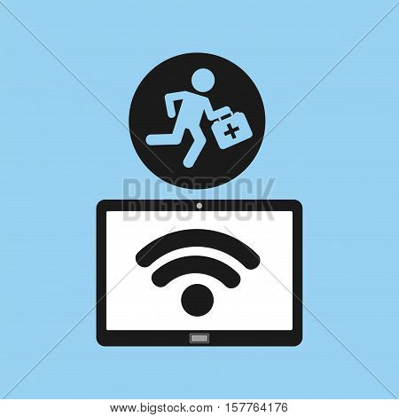 technology device health paramedic first aid vector illustration eps 10
