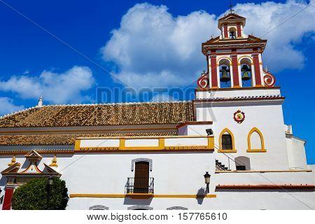 Guillena church on the via de la Plata way at andalusia spain