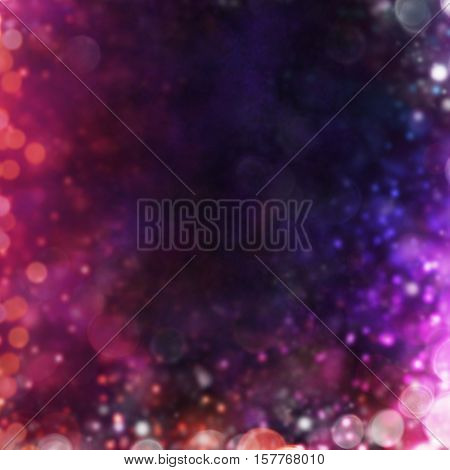 Blurred abstract shiny spot lights background with copyspace for text
