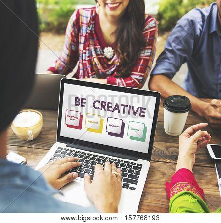 Fresh Ideas Be Creative Inspiration Imagination Passion Concept