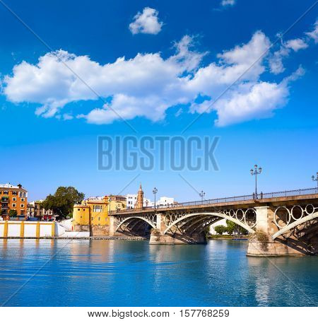 Puente Isabel II bridge in Triana Seville of Andalusia Spain