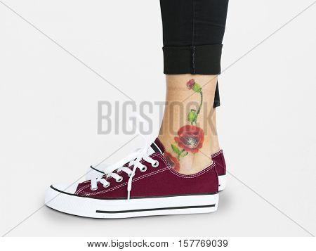 Woman Shoes Closeup Studio Concept