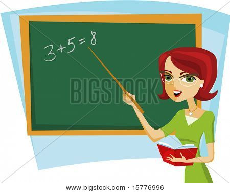 back to school - teacher in the class