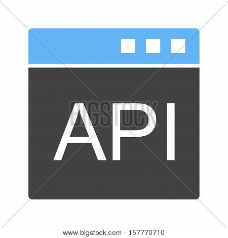 API, software, development icon vector image. Can also be used for software development. Suitable for mobile apps, web apps and print media.