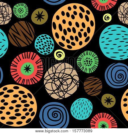 Colorful kids pattern with dots for gift box cute paper and scrapbook texture. Vector illustration