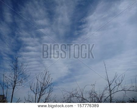 Blue Sky With Beautiful White Cloudshape