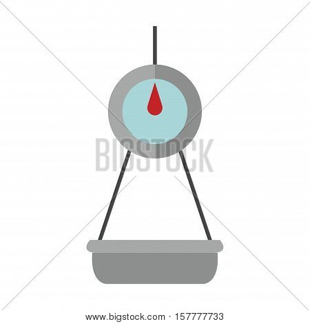 scales for weighing with base vector illustration