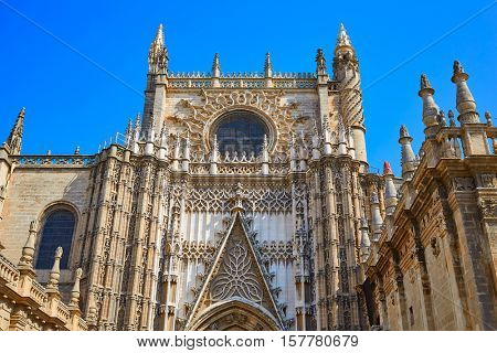 Seville cathedral Saint Christopher door Sevilla Andalusia Spain