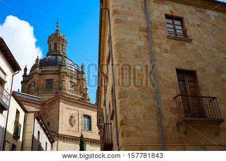 Salamanca university and Clerecia church in Spain