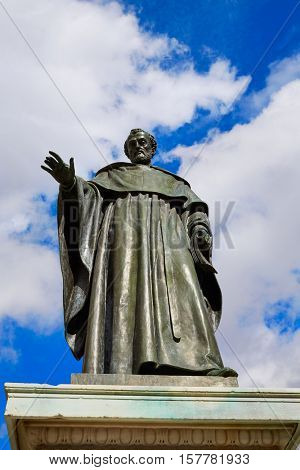 Fray Luis de Leon sculpture in Salamanca near University Spain