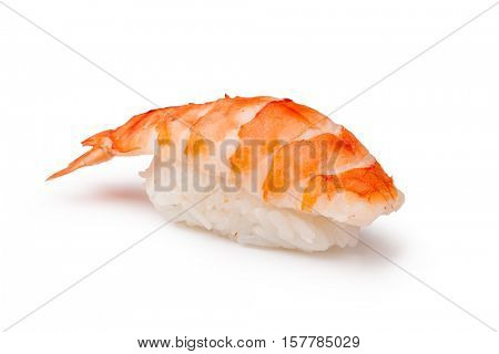 Sushi - ama Ebi Nigiri on a white