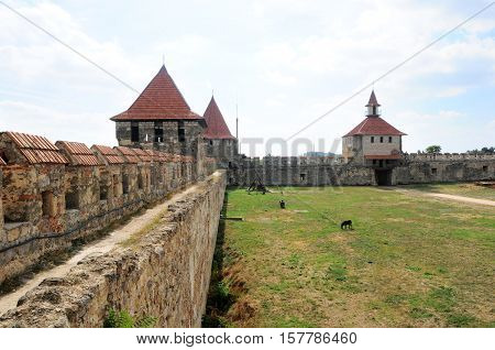 Bender,Transnistria Republic - 01 October 2016. Bender Transnistria: Bendery Fortress Cetatea Tighina in Transnistria a self governing territory not recognised by United Nations