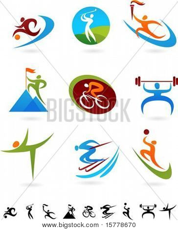 Set of colorful sport icons - 2