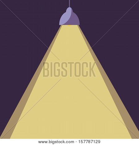 Vector office lamp light illustration. Concept of flat cartoon chandelier light. Colorful chandelier light background for your design. Flat cartoon chandelier lamp light isolated .The flow of light