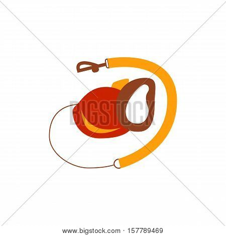 Dog leash icon. Colorful dog lead isolated vector. Flat dog leash illustration. Home pet lead cute icon. Dog leash silhouette isolated on white background