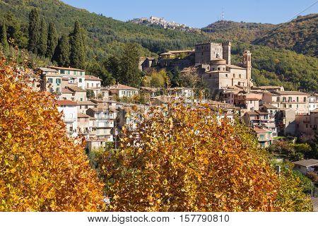 Beautiful medieval village of Arsoli, Lazio, Italy