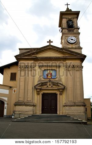 Church Caiello Italy    Window  Clock And Bell Tower
