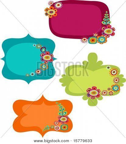 Cute colorful frames