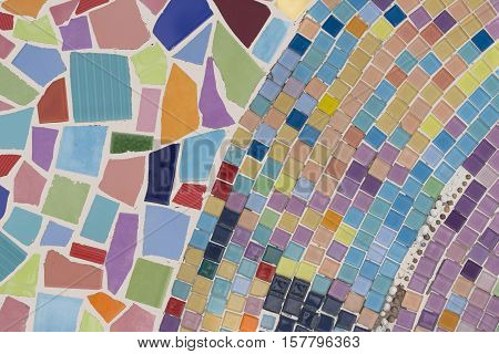 muti color mosaic background or colorful mosaic floor.