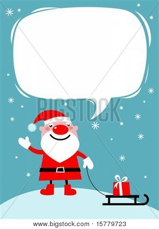 Santa with a sledge Christmas card