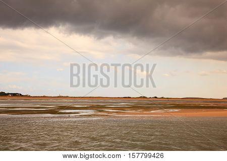 View of the El Puntal beach in Somo Santander. Spain