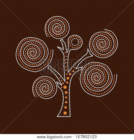 Aboriginal Tree. Illustration based on aboriginal style of dot tree.