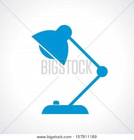 Desk lamp icon vector illustration isolated on white background