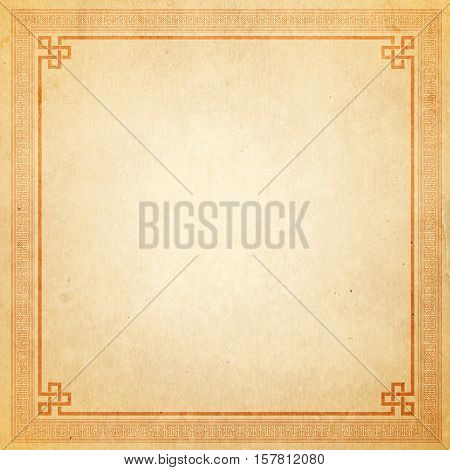 Vintage chinese frame - old paper texture