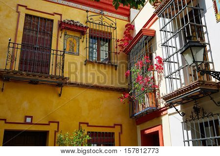 Sevilla old town near calle Agua Vida st in andalusia Spain