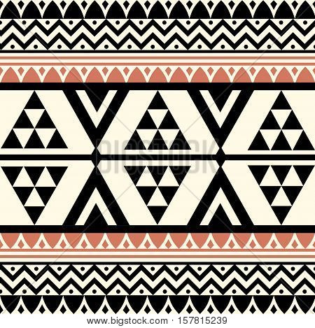 Vector Abstract Tribal Ethnic Pattern Background Illustration