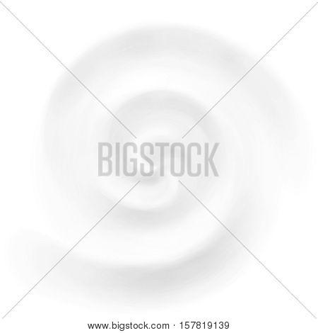 Vector yogurt or milk swirl background, white cosmetics cream product whirlpool and vortex.